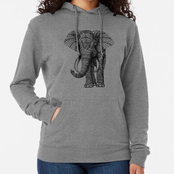 Ornate Elephant Lightweight Hoodie