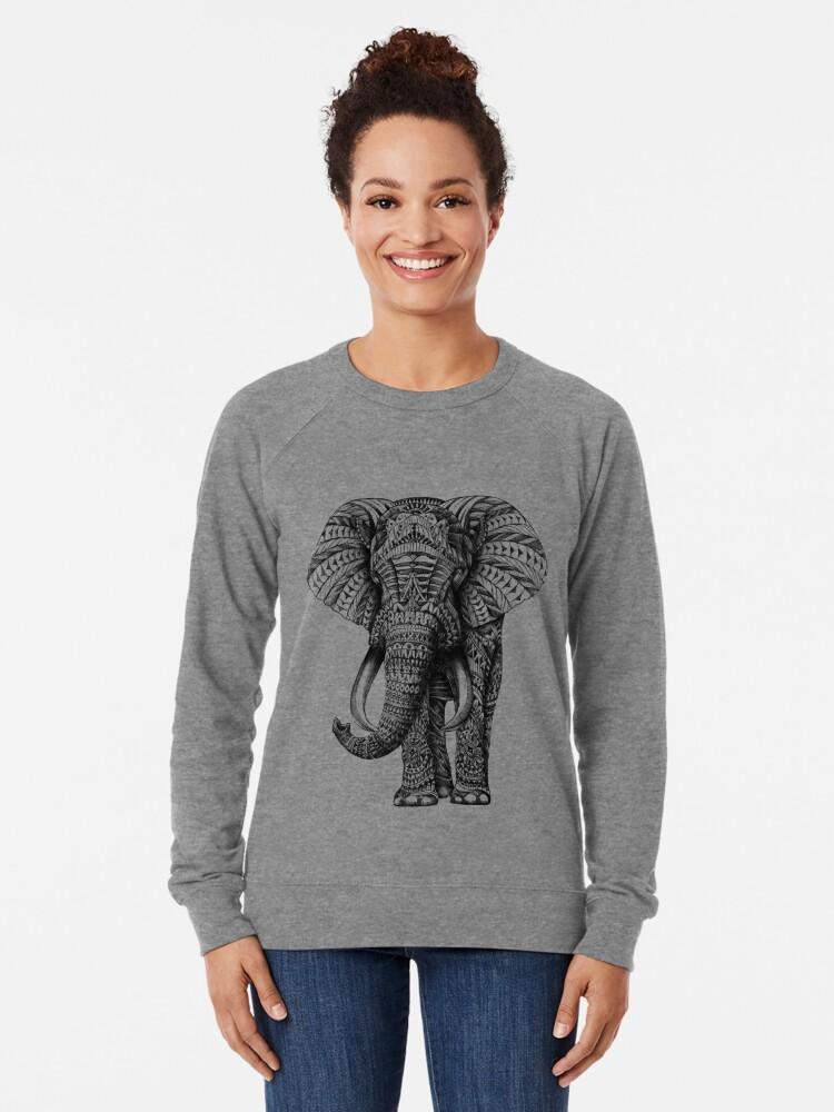 Vista alternativa de Sudadera ligera Elefante adornado