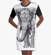 Ornate Elephant Graphic T-Shirt Dress