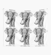 Ornate Elephant Wall Tapestry