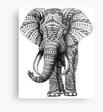 Ornate Elephant Metal Print