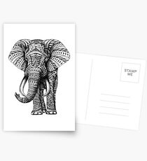 Ornate Elephant Postcards