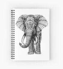 Éléphant orné Cahier à spirale