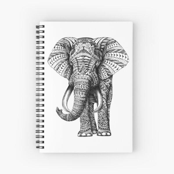 Ornate Elephant Spiral Notebook