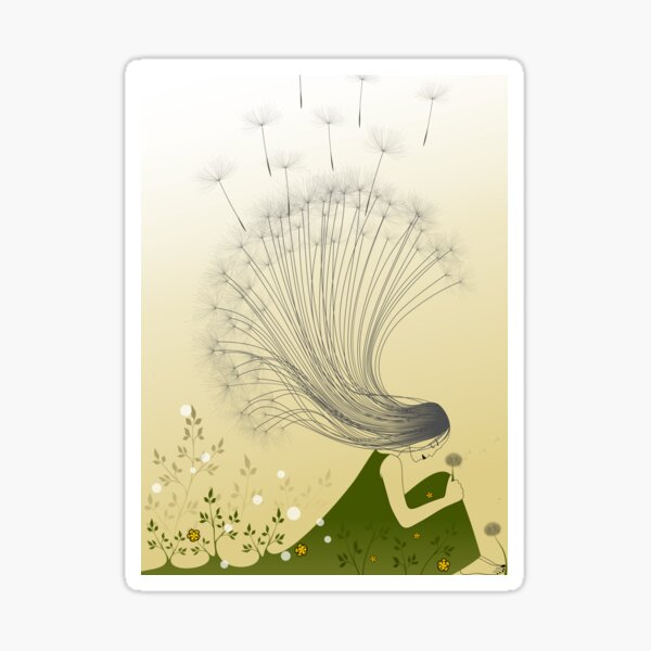 The Girl with Dandelion Hair Sticker