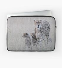 Leopard mother and cub Laptop Sleeve