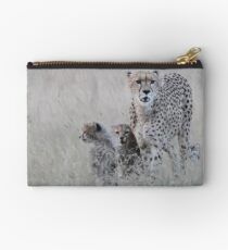 Leopard mother and cub Studio Pouch