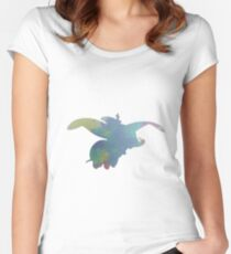 Elephant Inspired Silhouette Women's Fitted Scoop T-Shirt