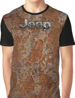 Rustic Jeep with chrome typograph Graphic T-Shirt