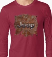 Rustic Jeep with chrome typograph T-Shirt