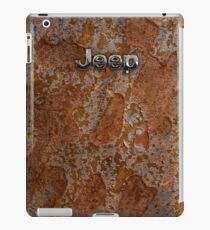 Rustic Jeep with chrome typograph iPad Case/Skin