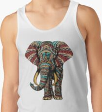 Ornate Elephant (Color Version) Men's Tank Top