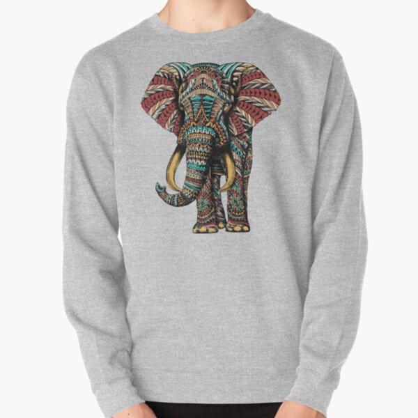 Ornate Elephant (Color Version) Pullover Sweatshirt