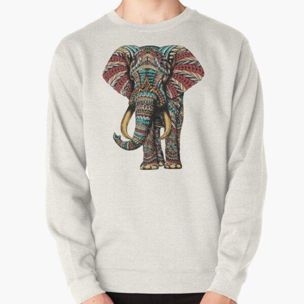 Verzierter Elefant (Farbversion) Pullover