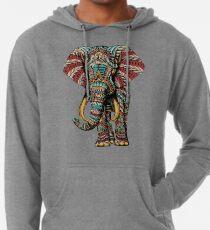 Verzierter Elefant (Farbversion) Leichter Hoodie