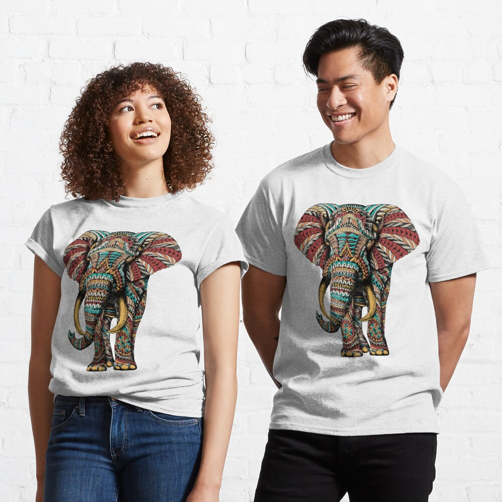 Ornate Elephant (Color Version) Classic T-Shirt