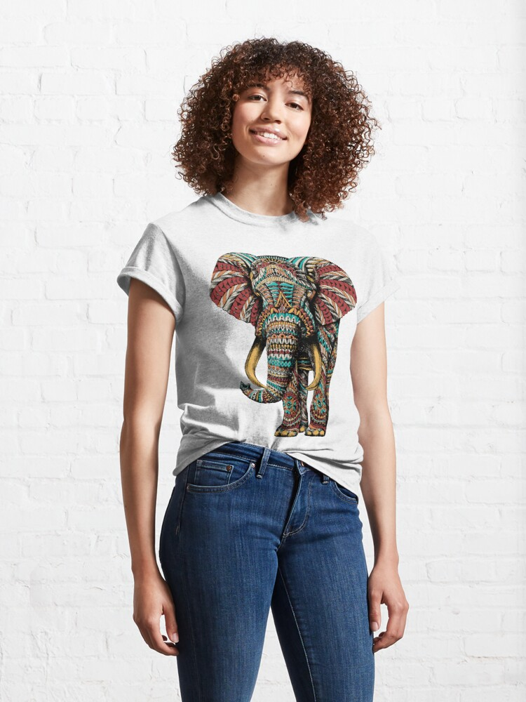 Alternate view of Ornate Elephant (Color Version) Classic T-Shirt