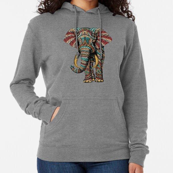 Ornate Elephant (Color Version) Lightweight Hoodie