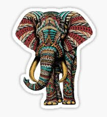 Ornate Elephant (Color Version) Sticker