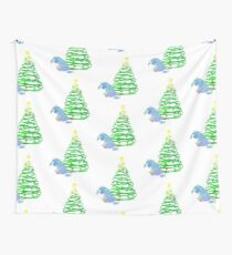 Christmas Donkey Inspired Silhouette Wall Tapestry