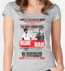 Enter the Dragon - Williams vs Han Women's Fitted Scoop T-Shirt