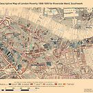 Booth's Map of London Poverty for Riverside ward, Southwark by ianturton