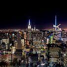 Manhattan skyline at night by Colin White