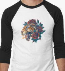 Ornate Leopard (Color Version) Men's Baseball ¾ T-Shirt
