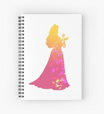 Princess Inspired Silhouette Spiral Notebook
