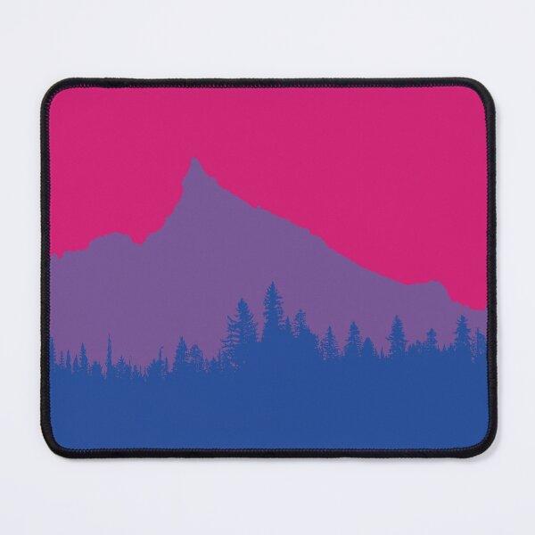 Mount Thielson Oregon Bi Pride Flag Mouse Pad