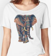 Ornate Elephant v2 (Color Version) Women's Relaxed Fit T-Shirt