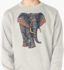 Verzierter Elefant v2 (Farbversion) Sweatshirt