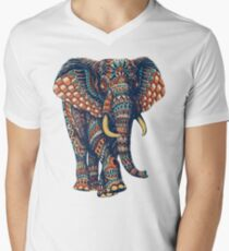 Ornate Elephant v2 (Color Version) Men's V-Neck T-Shirt