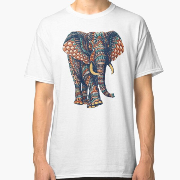Ornate Elephant v2 (Color Version) Classic T-Shirt