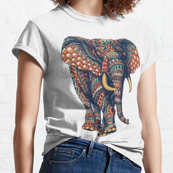 Ornate Elephant v2 (Farbversion) Classic T-Shirt