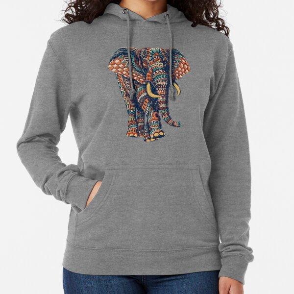 Ornate Elephant v2 (Farbversion) Leichter Hoodie