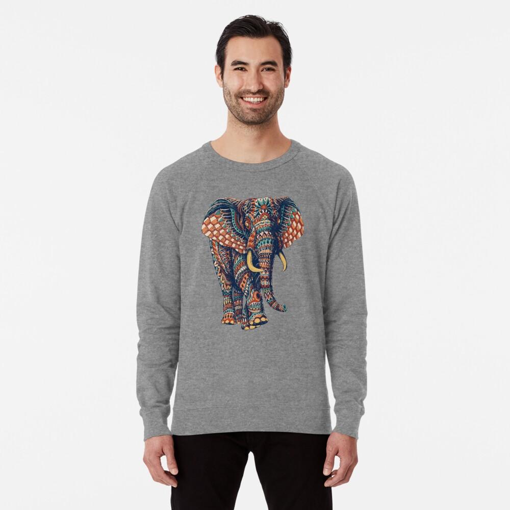 Ornate Elephant v2 (Color Version) Lightweight Sweatshirt