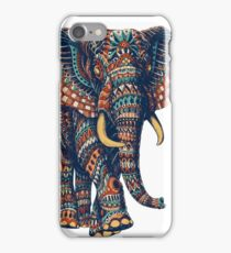 Ornate Elephant v2 (Color Version) iPhone Case/Skin
