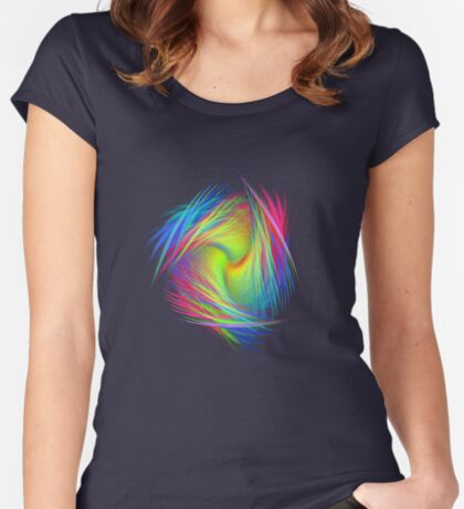 Forma 3 chaos #fractal art Women's Fitted Scoop T-Shirt