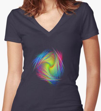 Forma 3 chaos #fractal art Women's Fitted V-Neck T-Shirt