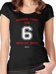 Drake - 6 God Women's Fitted Scoop T-Shirt