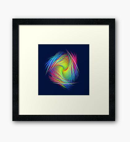Forma 3 chaos #fractal art Framed Print