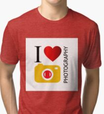 I love photography Tri-blend T-Shirt