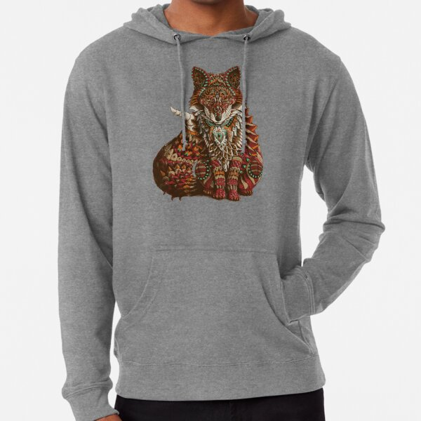 Red Fox (Color Version) Lightweight Hoodie