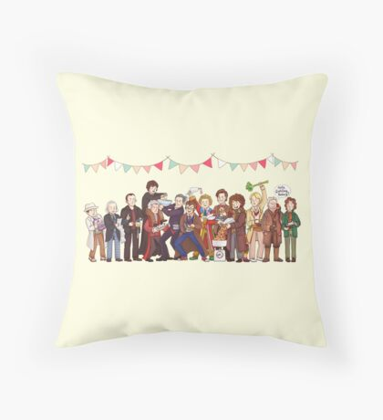 The Great Doctor Bake-Off Throw Pillow