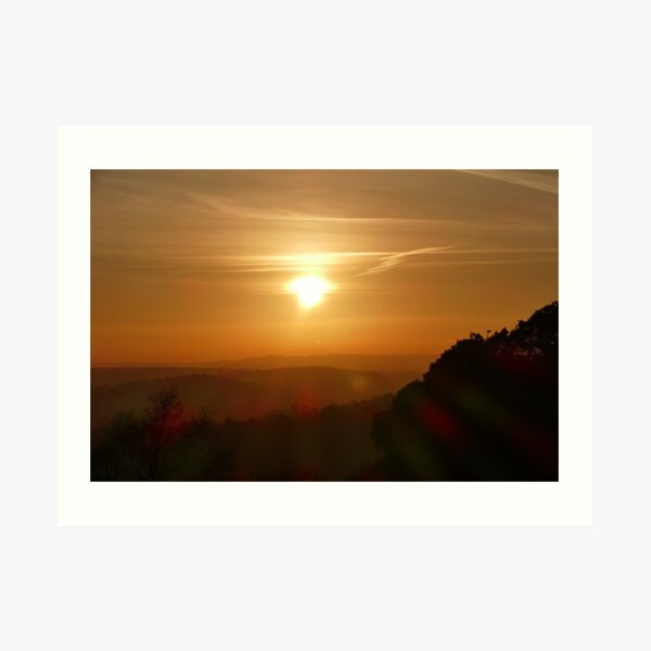 Sunsets over the Surrey Hills Art Print