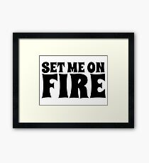 cool festival party fire t shirts Framed Print