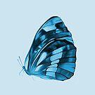 BLUE Butterfly by DeyanaDeco