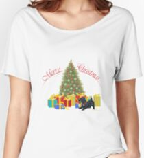 Scottish Terrier Christmas Gifts Women's Relaxed Fit T-Shirt