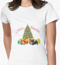 Scottish Terrier Christmas Gifts Womens Fitted T-Shirt